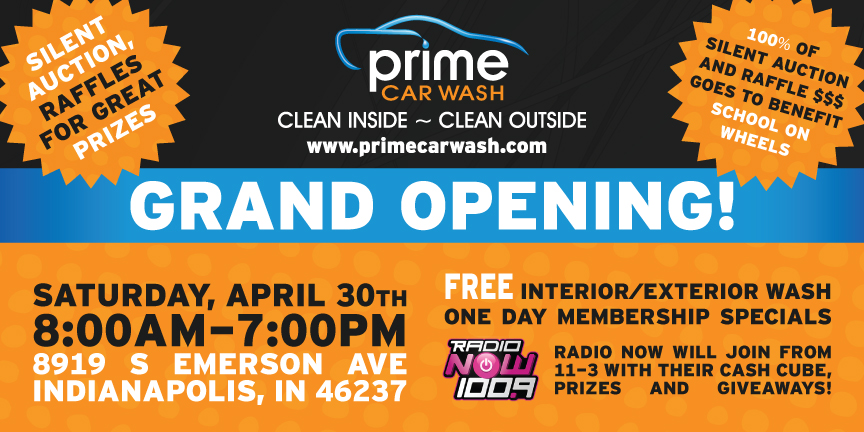 Join us at Prime Car Wash Grand Opening!