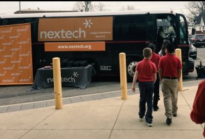 Our students enjoying a visit from Nextech!