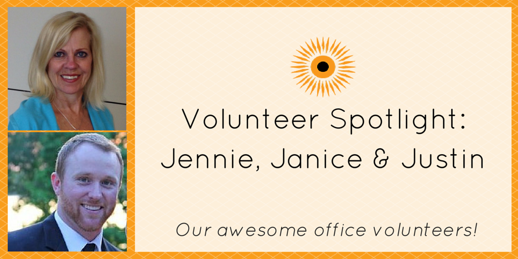 Volunteer Spotlight- Jennie, Janis & Justin