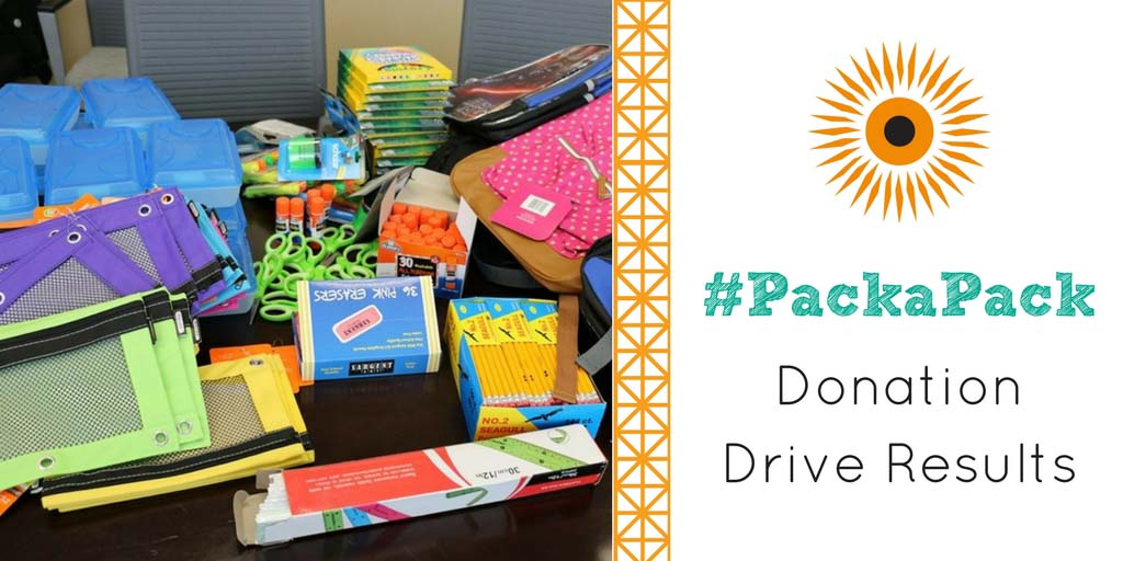 packapack donation drive blog