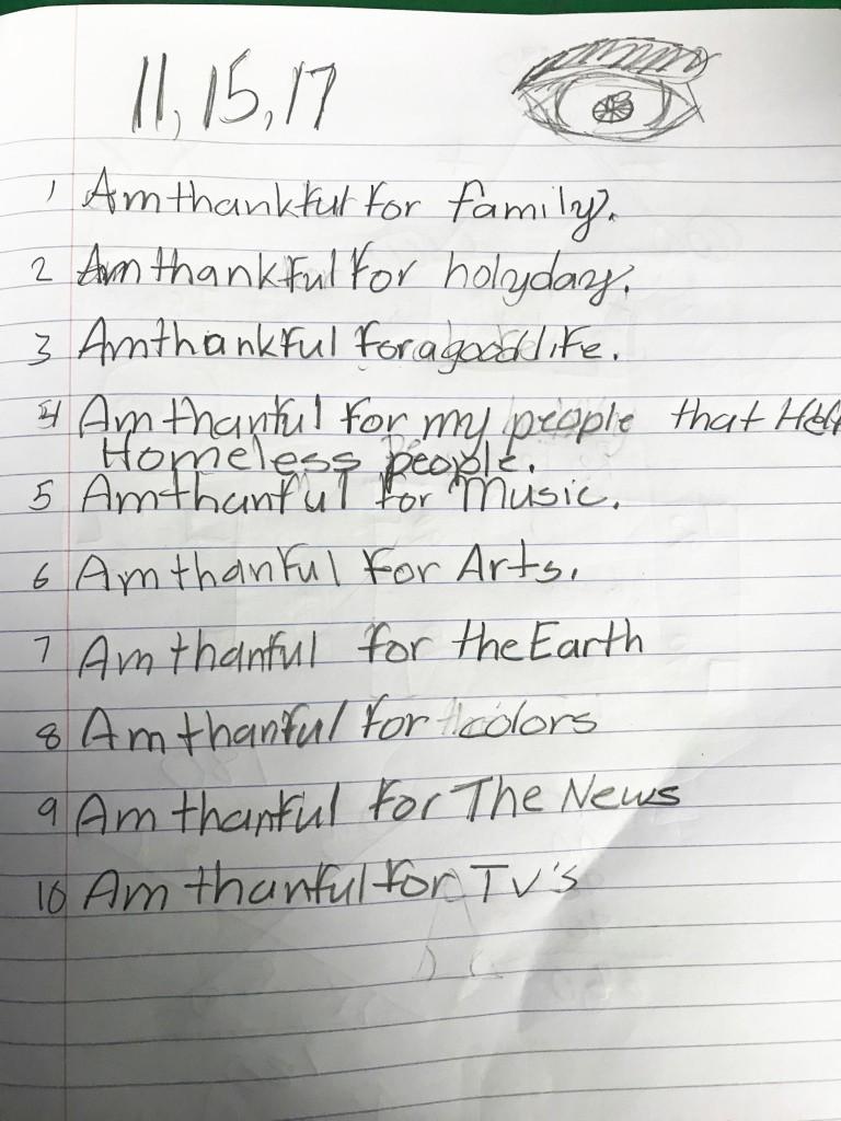 Thankful 5